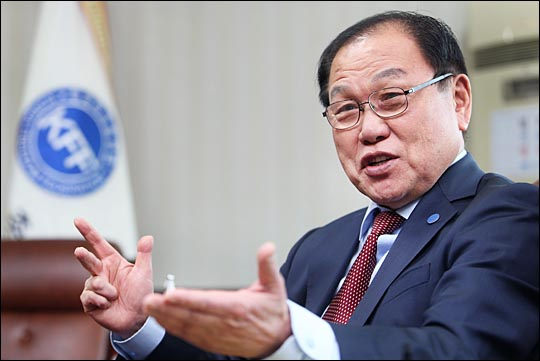 김명환 한국자유총연맹 회장. ⓒ데일리안 홍효식 기자