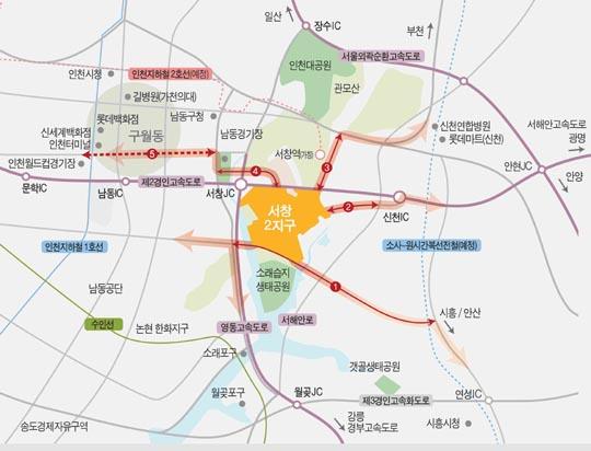 인천 남동구 서창2지구 위치도ⓒLH