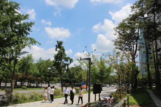 한가로운 오후 서울 여의도 풍경을 촬영해 봤다. DSLR답게 선명한 촬영이 가능하다.ⓒ데일리안 남궁민관 기자