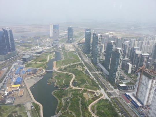 7월 10일 동북아무역센터 65층 전망대에서 바라본 모습ⓒ데일리안 박민 기자