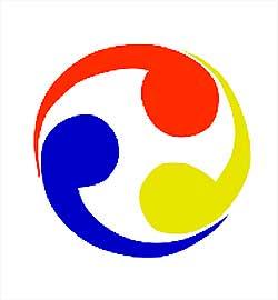 류큐국기(1854-1879). 출처 http://commons.wikimedia.org/wiki/File:Flag_of_the_Ryukyu_Kingdom.svg?uselang=zh
