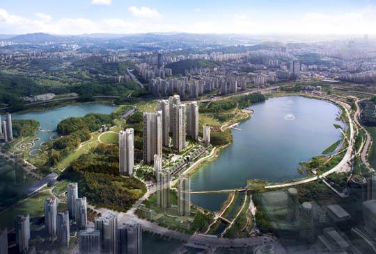 경기 수원 영통구 하동에 조성될 '힐스테이트 광교' 조감도ⓒ현대엔지니어링