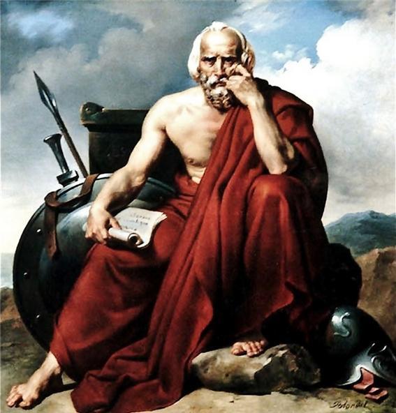 스파르타의 리쿠르고스(Lycurgus), Merry-Joseph Blondel(1781~1853) 1828년 작, 프랑스 피칼디(Picardie) 미술관 소장