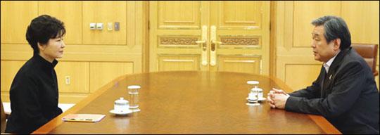 박근혜 대통령과 새누리당 김무성 대표가 16일 오후