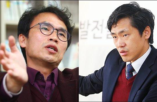 유재길 은평미래연대 대표(좌)와 이종철 강서발전시민포럼 대표.ⓒ홍효식 기자