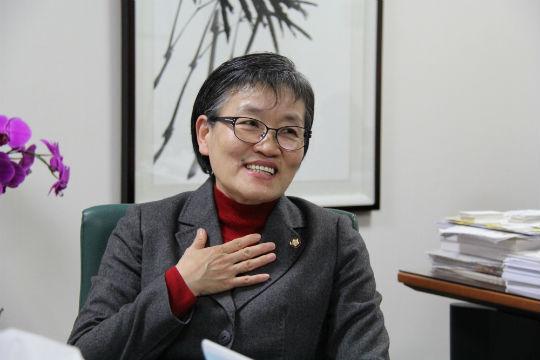 4·13 총선에서 대전 중구에 출마한 이에리사 새누리당 의원이