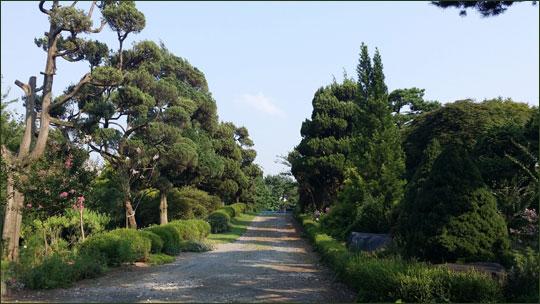 광천의 '그림이 있는 정원' 풍경.ⓒ조남대