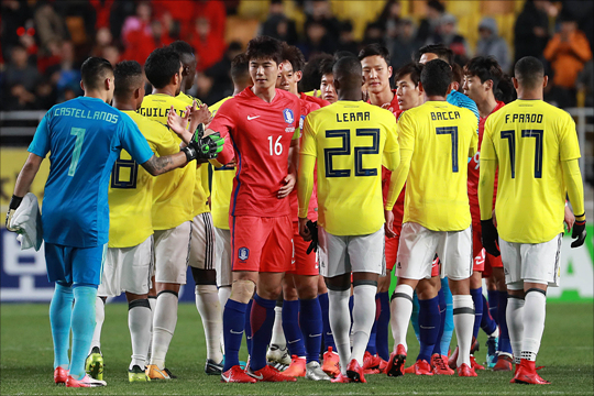 한국에 패했던 콜롬비아가 중국전에서 분풀이에 성공했다. ⓒ 데일리안 홍금표 기자