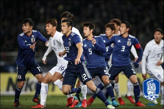 축구 한일전 일본 반응 ⓒ 대한축구협회