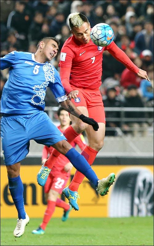 4경기 연속 헤딩골을 기록한 김신욱. ⓒ 데일리안 박항구 기자