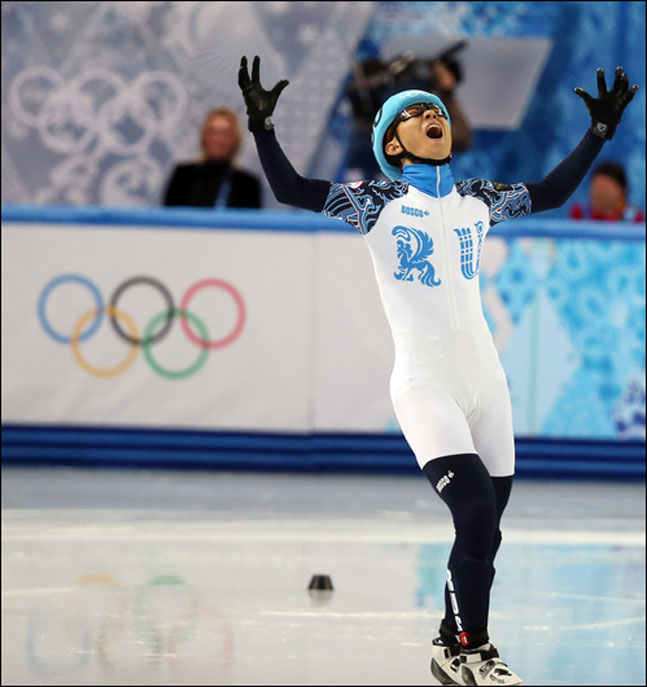 평창 올림픽 출전이 무산된 안현수. ⓒ 연합뉴스