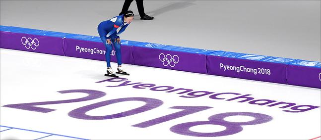 평창올림픽 여자 팀추월 준준결승에 나선 노선영. ⓒ 2018평창사진공동취재단