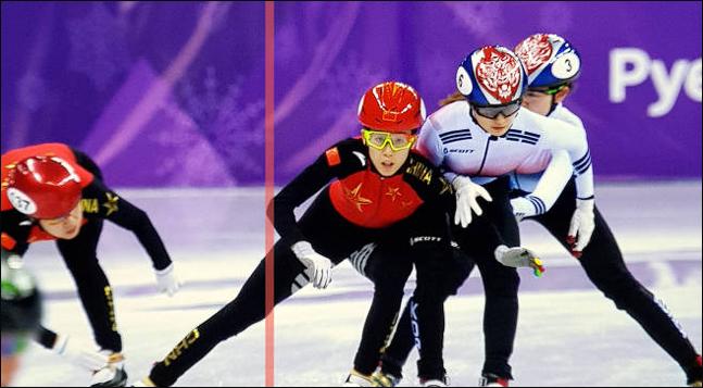 국제빙상경기연맹(ISU)이 중국의 거센 반발에 결국 반칙 장면을 공개했다. ISU 홈페이지 캡처