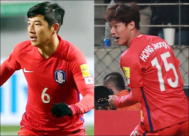 모처럼 대표팀에 이름을 올린 박주호와 홍정호. ⓒ 데일리안DB