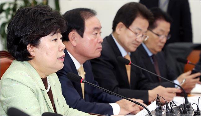 조배숙 민주평화당 대표가 9일 오전 국회에서 열린 최고위원·국회의원 연석회의에서 이야기 하고 있다. (자료사진) ⓒ데일리안 박항구 기자
