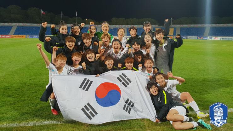 2회 연속 월드컵 본선 진출에 성공한 여자 축구 대표팀. ⓒ 대한축구협회