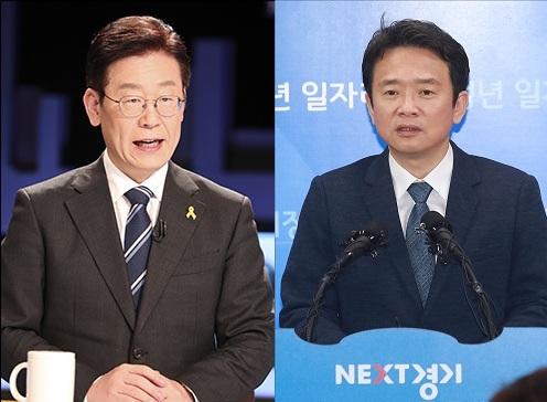 이재명 더불어민주당 경기지사 후보와 자유한국당 소속 남경필 경기지사 ⓒ데일리안