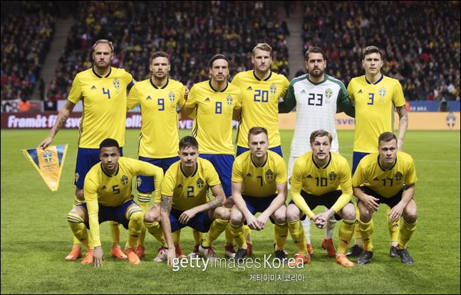 스웨덴이 월드컵 최종 엔트리 23명을 발표했다. ⓒ 게티이미지