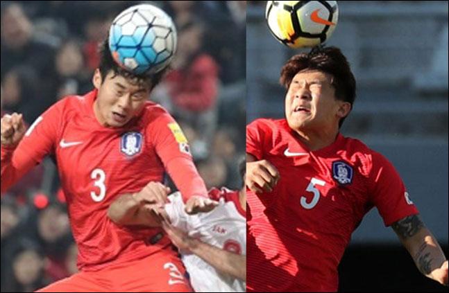 뼈 아픈 부상을 당한 김진수와 김민재. ⓒ 연합뉴스