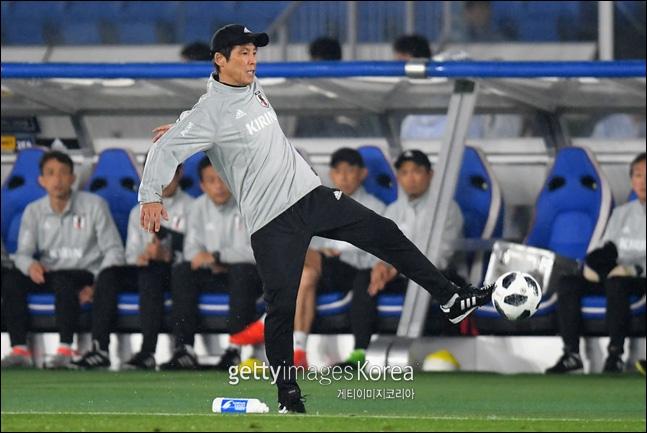 일본 대표팀의 니시노 감독. ⓒ 게티이미지