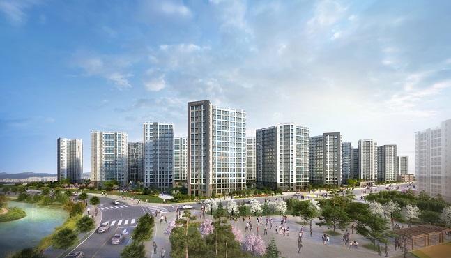 '캐슬앤파밀리에 시티 2차' 투시도. ⓒ롯데·신동아건설