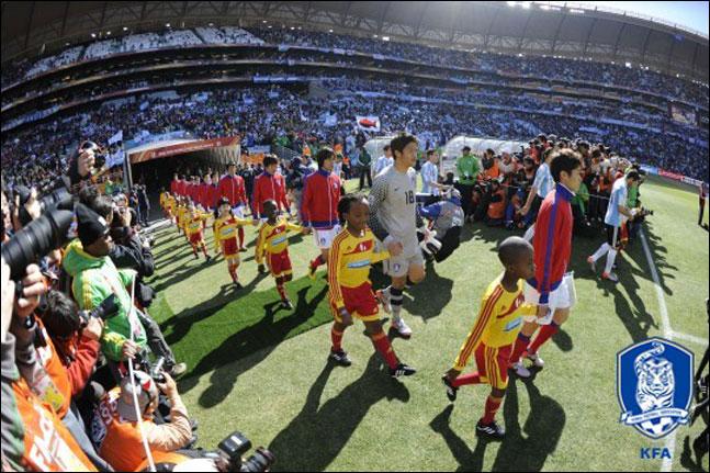2010년 남아공 월드컵 아르헨티나와의 조별리그 2차전은 무려 8만2174명의 관중이 모였다. ⓒ 대한축구협회