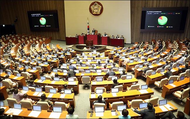 국회 본회의장 모습 ⓒ데일리안DB