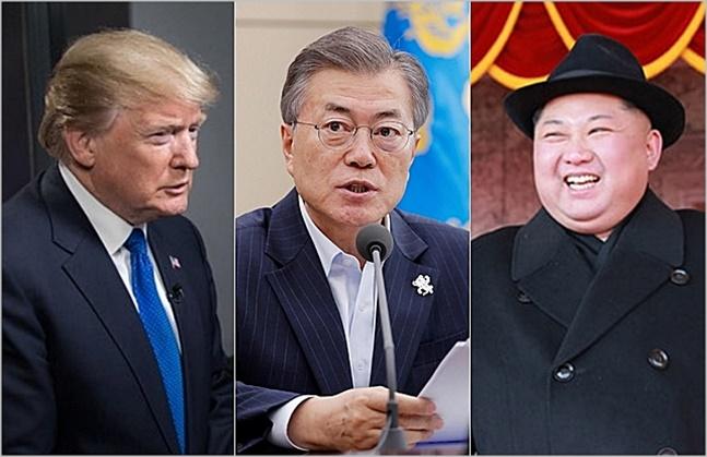 """문재인 대통령은 """"북미 정상이 직접 한 약속을 지키지 않는다면 국제사회로부터 엄중한 심판을 받게 될 것""""이라고도 했다. 비핵화 협상이 성공할 것이라는 확신이 없으면 꺼내기 어려운 수위의 발언이다."""