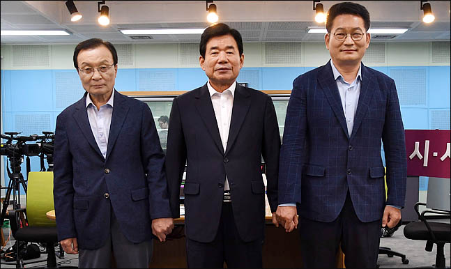 더불어민주당 당권에 도전하고 있는 이해찬(왼쪽부터), 김진표, 송영길 당대표 후보(자료사진)ⓒ국회사진취재단