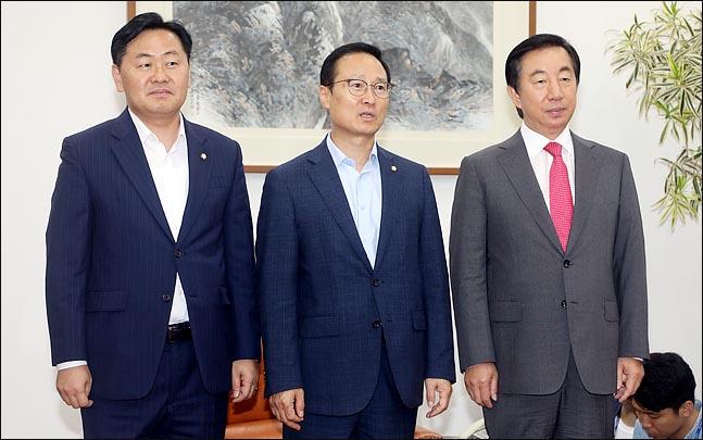 왼쪽부터 김관영 바른미래당, 홍영표 더불어민주당, 김성태 자유한국당 원내대표(자료사진)ⓒ데일리안 박항구 기자