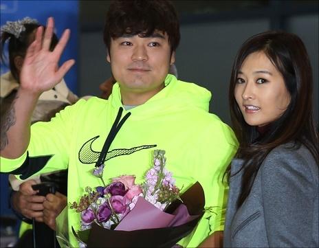 추신수의 아내 하원미 씨가 남편을 응원하기 위해 올스타전 현장을 찾았다.(자료사진) ⓒ 연합뉴스