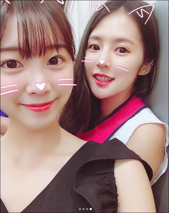 박기량과 안지현 셀카. 박기량 인스타그램 캡처.