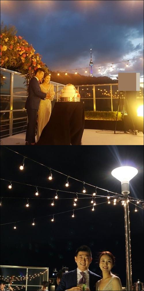방송인 김엔젤레가 결혼식 사진을 공개했다. ⓒ 김엔젤라 인스타그램