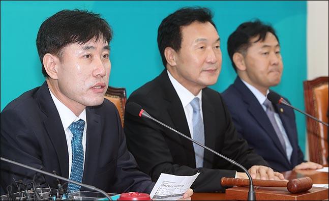 하태경 바른미래당 최고위원이 지난달 3일 오전 국회에서 열린 제1차 최고위원회의에서 발언하고 있다. (자료사진) ⓒ데일리안 박항구 기자