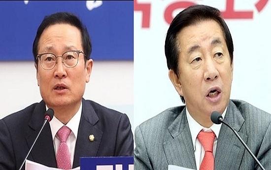 홍영표 더불어민주당 원내대표(왼쪽), 김성태 자유한국당 원내대표.(자료사진)ⓒ데일리안 박항구 기자
