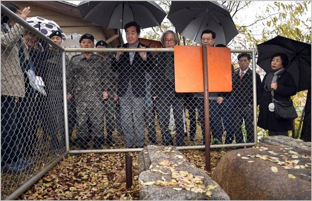이낙연 국무총리가 8일 오후 서울 용산구 용산미군기지를 방문했다. ⓒ총리실 제공