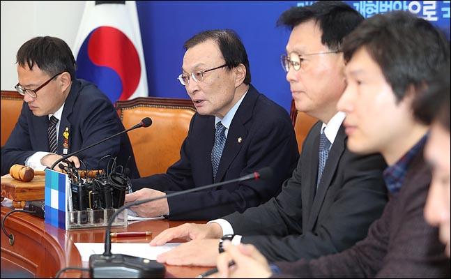 이해찬 더불어민주당 대표가 9일 국회에서 열린 최고위원회의에서 모두발언을 하고 있다. ⓒ데일리안 박항구 기자