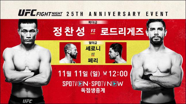 UFC FN 139 정찬성 vs 로드리게즈. ⓒ 스포티비