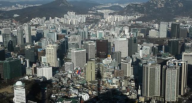 대기업 건물들이 빼곡히 들어선 서울 도심의 모습.ⓒ연합뉴스