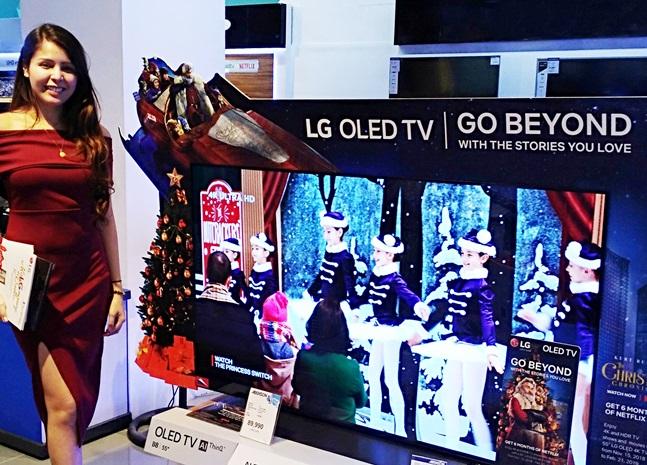 LG전자 모델이 필리핀 마닐라에 위치한 한 가전매장에서 LG전자