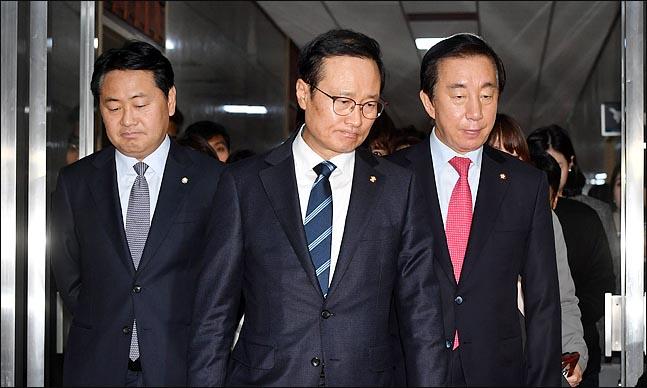 왼쪽부터 김관영 바른미래당, 홍영표 더불어민주당, 김성태 자유한국당 원내대표(자료사진)ⓒ데일리안