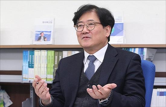 김명현 한국원자력학회 학회장(경희대 원자력공학과 교수).ⓒ데일리안 홍금표 기자
