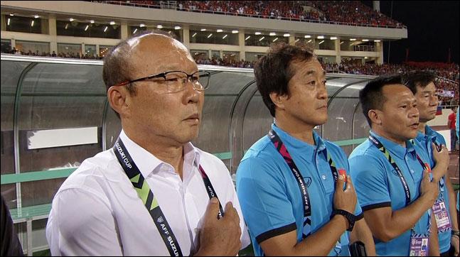 박항서 감독이 이끄는 베트남의 결승전 경기는 4.706%의 시청률을 기록했다. ⓒ SBS스포츠