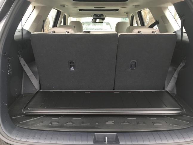 팰리세이드 트렁크 공간. 3열까지 사람이 앉아도 충분한 적재공간을 제공한다.ⓒ데일리안 박영국 기자