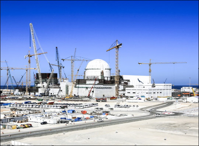UAE 바라카 원전 건설 현장.ⓒ한국전력