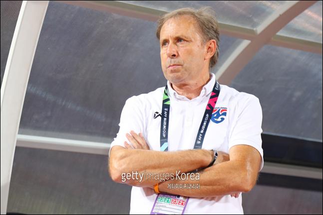 아시안컵 1경기 만에 경질된 라예바치 태국 감독. ⓒ 게티이미지