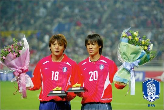 대표팀의 원조 H-H 라인은 지난 2002년 월드컵에 나섰던 황선홍, 홍명보 전 감독이다. ⓒ 대한축구협회