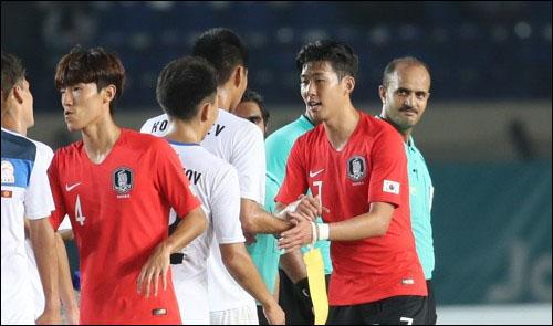 한국은 U-23대표팀이 나섰던 지난해 아시안게임서 손흥민의 골로 키르기스스탄에 승리한 바 있다. ⓒ 연합뉴스