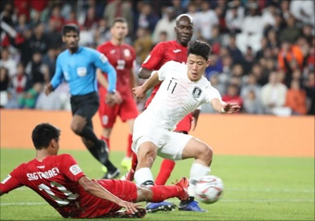 [한국 키르기스스탄]2연승으로 남은 중국전 결과에 관계없이 16강 진출을 조기에 확정했지만 웃을 수 없는 경기였다. ⓒ 연합뉴스
