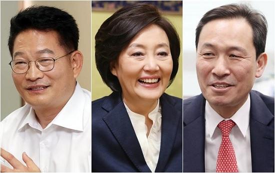 더불어민주당의 비주류 중진인 (왼쪽부터) 송영길 의원, 박영선 의원, 우상호 의원. ⓒ데일리안